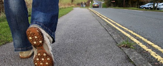 venido caminando (came walking?)