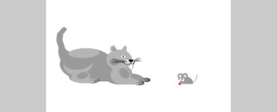 Gato con guantes no caza ratones